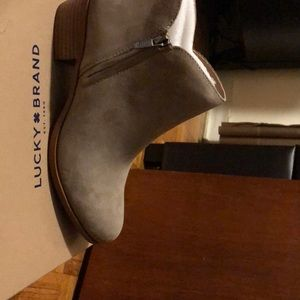 Lucky brand bootie in stone.